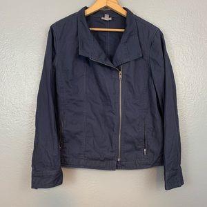 J. Jill Blue Lightweight Blue Cargo Jacket